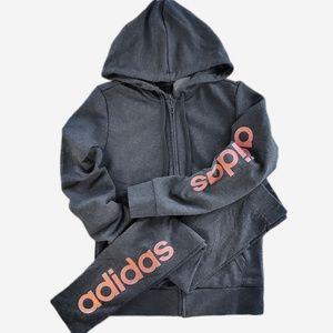 Adidas Womens Full Zip Hoodie & Leggings